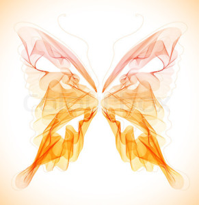 Smooth colorful abstract butterfly