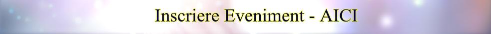 Inscriere eveniment